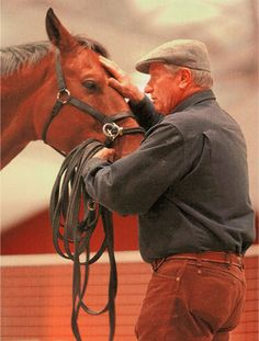 This guy is one of my biggest horse role models. If not THE biggest. Monty Roberts! He is literally a genious. The one who created join up that's possibly one of the most widely used natural horsemanship techniques. Saw him once in person and I almost fainted! hehe but you know what I'm saying