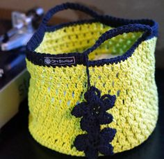 Green Cotton Lunch Tote