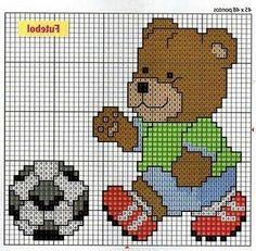 Urso jogador gráfico