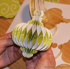 Today I am sharing a tutorial on how I made a Honeycomb Ornament using my Cricut and the Paper Trimmings cartridge (but you can use any c. Paper Christmas Ornaments, Handmade Christmas, Christmas Decorations, Book Crafts, Christmas Projects, Holiday Crafts, Quilling Paper Craft, Paper Crafts, Paper Toys