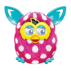 Furby Boom (Pink and White Polka Dots) Get ready, because Furby Boom is the beginning of an adventure. A New Generation Is Hatching on the free Furby Boom app, where you and your Furby Boom can collect digital eggs, hatch them, and raise a city of virtual Furby Furblings. The Furby Boom experience combines real-world interactions with virtual play for a game that will keep you coming back for more. Your Furby Boom responds to you, changes personalities based on how you treat it, dances to…