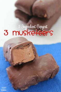 Sponsored Link  *Get more RECIPES from Raining Hot Coupons here* Repin It Here We love candy around here but it's always much tastier (and even a little healthier) when you make it yourself at home. These copycat 3 Musketeers taste just like the real thing and guess what else….they only take 2 ingredients. Yep, you will …