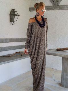Automne hiver tricoté asymétrique Maxi robe par SynthiaCouture