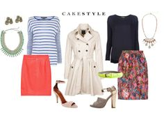 Cakestyle's suggestion for a couple of work looks. LOVE the use of color and print. Embrace your femininity!!