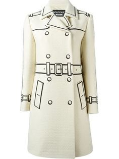 Boutique Moschino trompe l'oeil double breasted coat