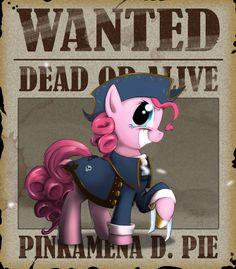 Wanted - Pinkamena D. Pie by Lionheartcartoon