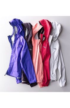 North Face rain jackets, I want them in every single color for this summer!!