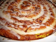 Giant Cinnamon Cheese Danish....uses Pillsbury Grands Cinnamon Rolls....Easy!!!