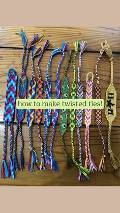 how to make twisted ties!