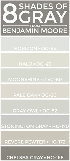 eight great shades of gray from benjamin moore