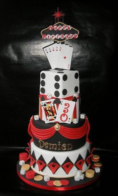 Casino Theme Birthday Cake X