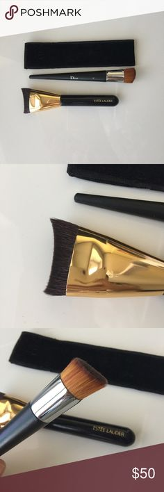 2 foundation brushes (Dior and Estée Lauder) Used 1-2x. Cleansed with brush cleaner. No fallouts and super densely packed. Suitable for full coverage. Both from Bloomingdales. Dior Other