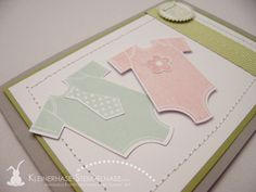 stampin up something for the baby zwillinge geburt