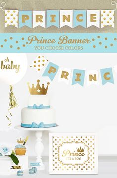 Prince Banner Prince Baby Shower Banner Little Prince Baby
