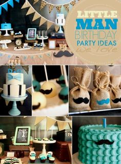 Having a theme makes party planning easier and more fun!If your son's birthday is coming up, check out our list of 43 Dashing DIY Boy First Birthday Themes. Little Man Birthday Party Ideas, Little Man Party, Birthday Themes For Boys, Baby Boy First Birthday, 4th Birthday Parties, 1st Birthdays, Birthday Table, Birthday Celebration, First Birthday Decorations Boy