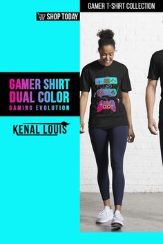 Dual Color Gaming Evolution - Gamer Shirts | A collection of gamer shirts created for gamers, YouTube gamers, Fortnite, Roblox, Panda Lovers and more. From The brands Just Gaby Gaming, Jays Xtreme Gaming, and Kenal Louis. ( Gamer Shirts, Gamer Shirt, Gamer T Shirt )#gamer #tshirts #shirts Boys Shirts, Cool T Shirts, Tee Shirts, Gamer Shirt, Creative Shirts, Cute Games, Cool Graphic Tees, Order T Shirts, Personalized T Shirts