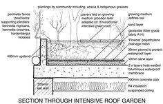 roof garden depths - Google Search