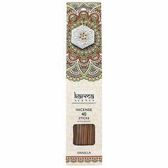 Karma Incense Cones (various Fragrances)(free Delivery) (vanilla) - Vanilla Packing Box Design, Packing Boxes, Incense Cones, Incense Sticks, Scented Sachets, Graphic Projects, Wood Sticks, Box Mockup, Home Fragrances
