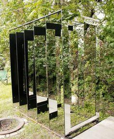 """""""Into and Out of,"""" site-responsive Mylar panel installation"""