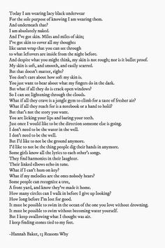 Hannah's poem from 13 Reasons Why