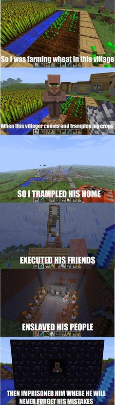This is what happens when i get mad at a villager on minecraft (i like minecraft alot: