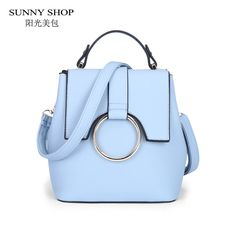 SUNNY SHOP 2017 New Spring Candy Color Backpack Women Fresh Korean Style PU Leather Backpacks School Bags Girls female backpack-in Backpacks from Luggage & Bags on Aliexpress.com | Alibaba Group