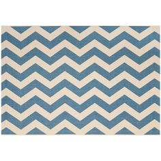Safavieh Courtyard Foxtrot Chevron Indoor Outdoor Rug, Blue