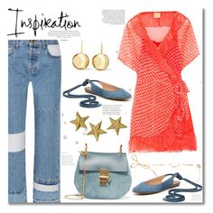 """""""Baby blue and orange! Top Set 30/08/2017!"""" by tatajrj ❤ liked on Polyvore featuring Current/Elliott, Cloe Cassandro, Chloé, Madewell and Sophie Buhai"""