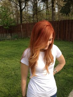 red ombre...i love red hair too much!