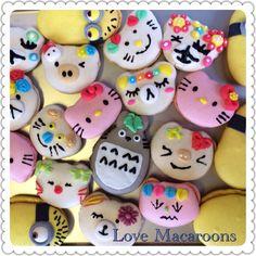 ⭐️Cute Macaron⭐️ by Love Macaroons  甜美瘋子 造型馬卡龍 hello, Mionion, Tortoro, bear