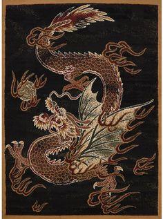 United Weavers Legends Area Rug Dragon Luck Black Dragon Asian x Rectangle Chinese Dragon, Chinese Art, Japanese Dragon, Cosplay Steampunk, Samurai Tattoo, Dengeki Daisy, Black Dragon, Tiger Dragon, Japanese Embroidery