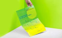 Print with fluorescent spot colour detail and illustration by Anagrama for residential property development El Semillero