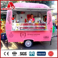 Food Cart Design, Food Truck Design, Food Truck Business, Cake Business, Coffee Carts, Coffee Truck, Bakery Shop Design, Kiosk Design, Mini Cafeteria