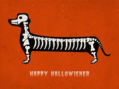 Illustration / Happy hallowiener — Designspiration