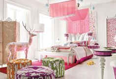 We would help you by providing some ideas of Teen Girl Room Design. Teen Girl Room Design would not be completed when you still do not add the nice wallpaper design. Pink Bedroom For Girls, Pink Bedrooms, Teen Girl Rooms, Teenage Girl Bedrooms, Little Girl Rooms, Pink Room, Tween Girls, Kids Rooms, Toddler Girls