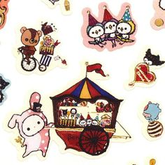 cute Sentimental Circus stickers by San-X rabbit