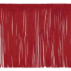"""Fabric.com is a great option for cheap fringe for dance costumes. 6"""" Chainette Fringe Trim Red"""