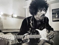 Jimi Hendrix backstage at Winter Land S.F. 1968