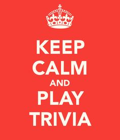 Keep Calm and Play Trivia. Every Tuesday and Saturday I offer a trivia game for a chance to win a free prize on my Facebook page. Check it out for your chance to win!  https://www.facebook.com/ZoyaProducts