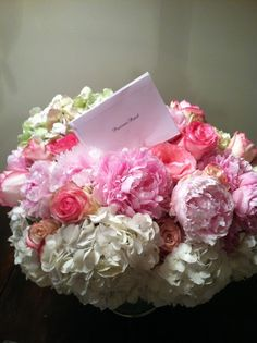 hydrangeas, peonies & roses oh my! Pearls and Grace