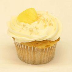 pineapple rum cupcake