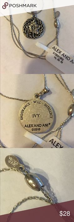 """Alex and Ani Ivy Expandable Necklace  NWT Alex and Ani Rulers of the Woods Ivy Expandable Charm Necklace! Silver Tone! Expandable sliding knot closure. Can adjust 16""""-32"""". Slip over head then adjust! Alex & Ani Jewelry Necklaces"""