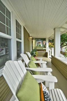 images different color adirondack chairs on porch - Google Search