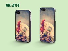 iPhone 4 Case iPhone 4S Case, iPhone 5 Case, Ariel The Little Mermaid, Plastic Phone Cases, Case for iphone, Please Choose Case Model-A114