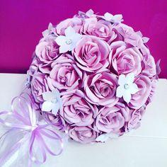 Bouquet Sposa di Fiori di Carta realizzato interamente a mano! #creativity  #creation #fioridicarta #paperflower #flowers #bouquet #marriage #artistlife #art #style #fashion #laboratorio
