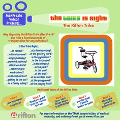 SeekFreaks Videos Presents…The Trike is Right! The Rifton Trike – SeekFreaks