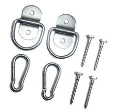 Indoor Hammock Hanging Kit By Live Infinitely Hammock Accessories -Holds 600 Lbs-Includes Hammock Hooks, Carabiners, & Lag Bolts for Hanging Your Hammock Indoors or Anywhere You Want (Zinc Plated)