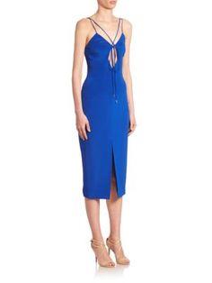 CUSHNIE ET OCHS Courtney Lace Up Dress. #cushnieetochs #cloth #dress