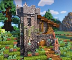 Casa Medieval Minecraft, Minecraft House Plans, Minecraft Cottage, Cute Minecraft Houses, Minecraft Room, Minecraft House Designs, Amazing Minecraft, Minecraft Blueprints, Minecraft Creations