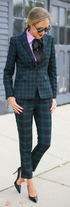 theclassycubicle.com Brooks Brothers plaid suit, Love the suit but I would skip the necktie and that shirt, a white shirt unbuttoned would look great!!